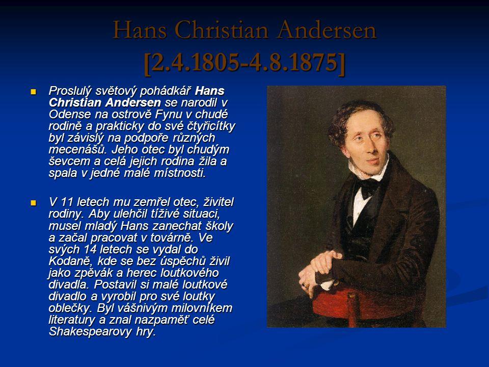 Hans Christian Andersen [2.4.1805-4.8.1875]